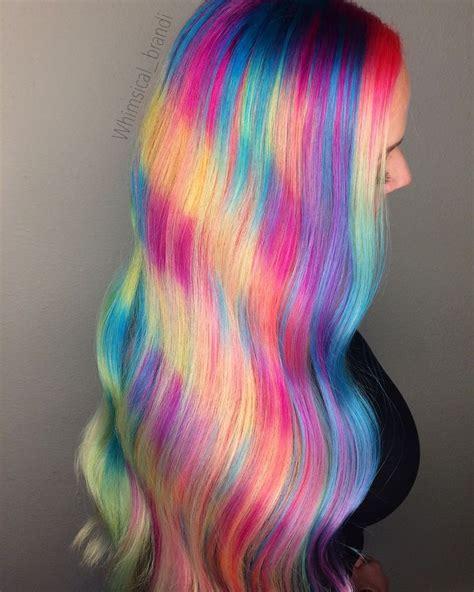 colorful hairstyles rainbow hair neon hair pulp riot mermaid hair unicorn