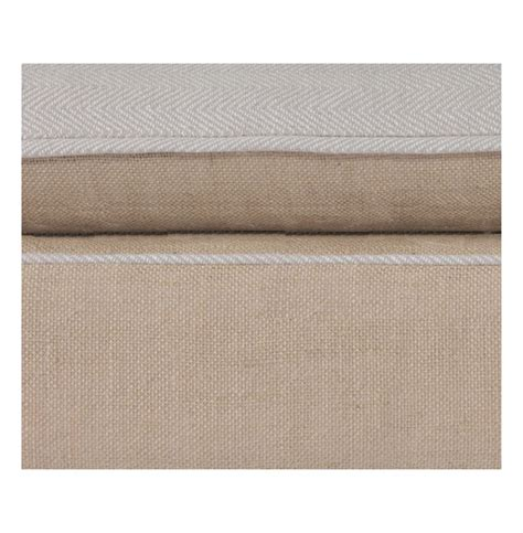 burlap bench cushion taryn french country natural burlap reversible cushion