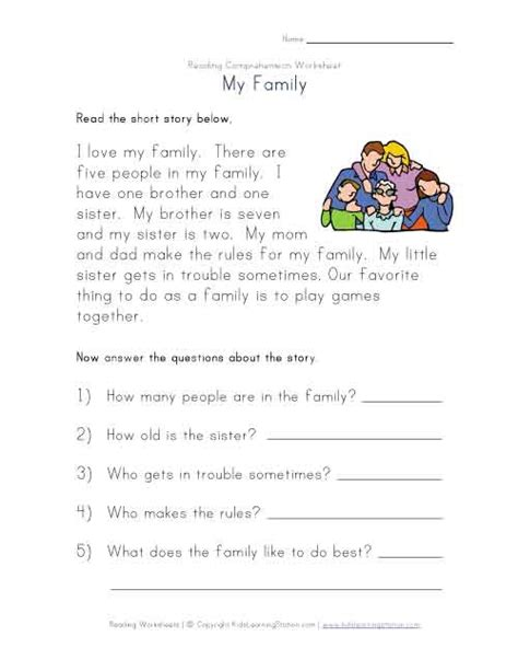reading comprehension test beginner reading comprehension worksheet projects to try