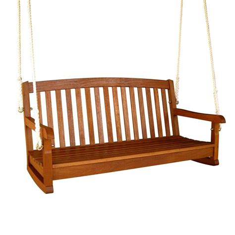 swing lowes shop international caravan 2 seat wood swing at lowes com