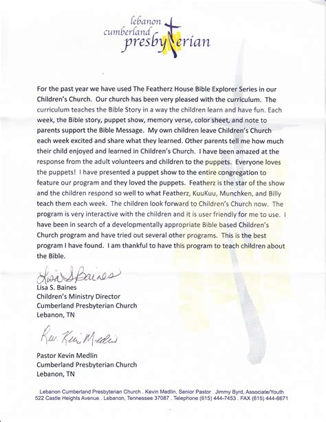 College Letter Of Recommendation From A Pastor children s church home school and famiy bible lessons