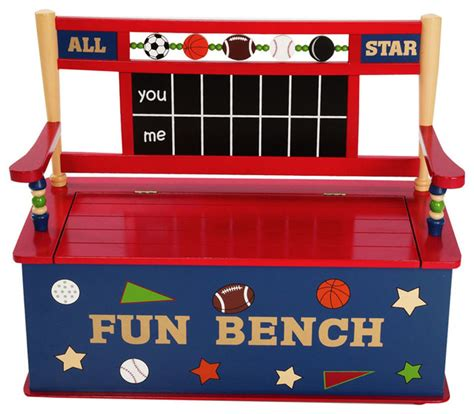 toy box with bench seat all star sports bench seat with storage contemporary
