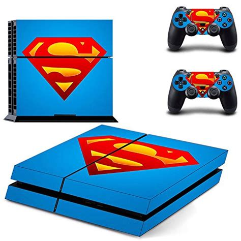 ps4 themes superman hytech plus superman blue and red theme skin sticker cover