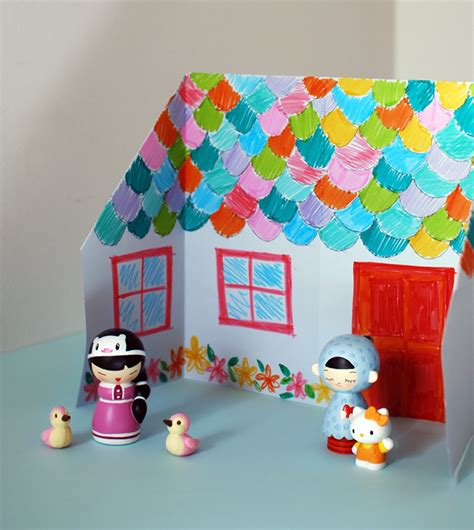 house crafts make an adorable origami doll house