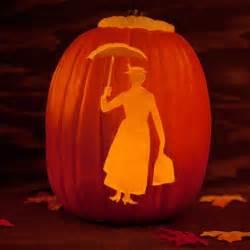 Disney Halloween Pumpkin Carving Patterns - mary poppins pumpkin template disney family