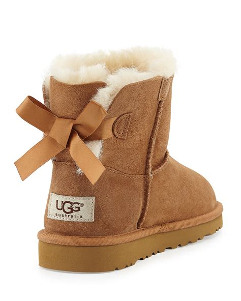 with ugg boots ugg mini bailey bow boots in brown lyst
