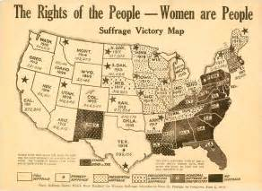 Rights of the people women are people suffrage victory map 1920