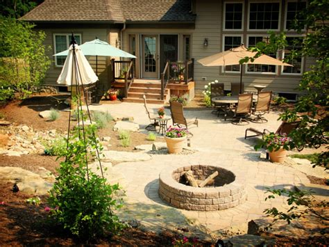 innovative fire pit for unique patio ideas on a budget