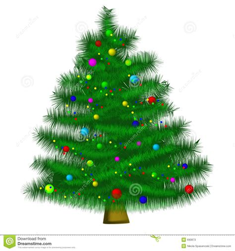 christmas tree ai format available stock vector image