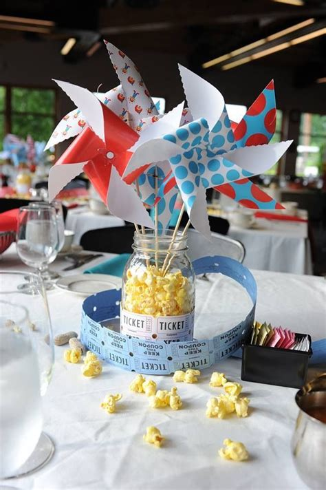 carnival wedding pinwheel centerpiece finally a wedding