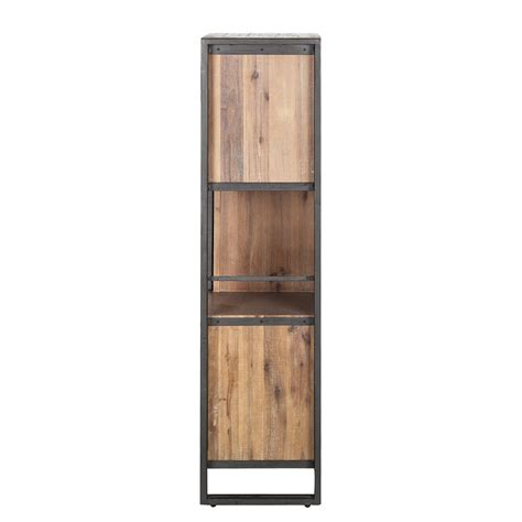 Schrank Holz Metall by Hochkommode 3 T 252 Ren Akazie Holz Metall Highboard Regal