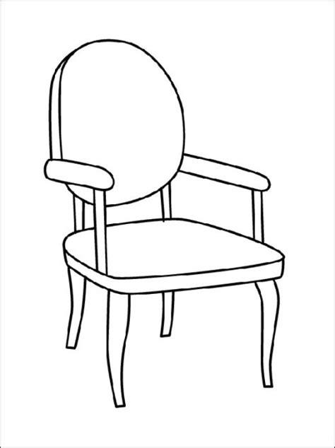 stuhl clipart ausmalbilder stuhl ausdrucken malvorlagen kostenlos