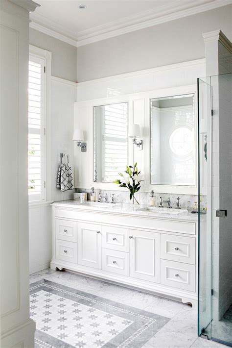 Classic White Bathroom Design And Ideas Brass Washstand Contemporary Bathroom The Greenwich Hotel