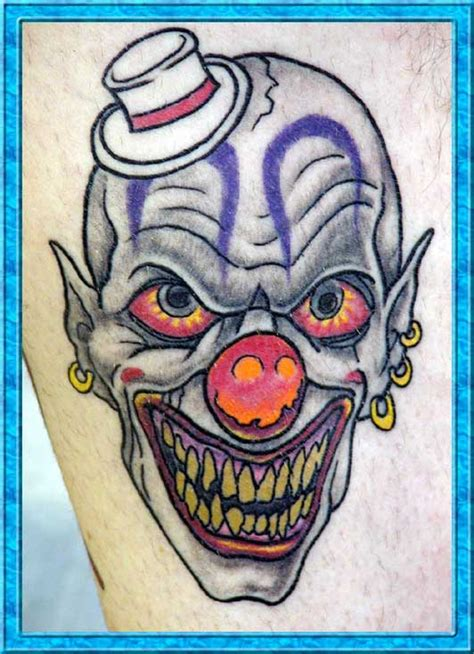 clown tattoos designs tattoos clowns