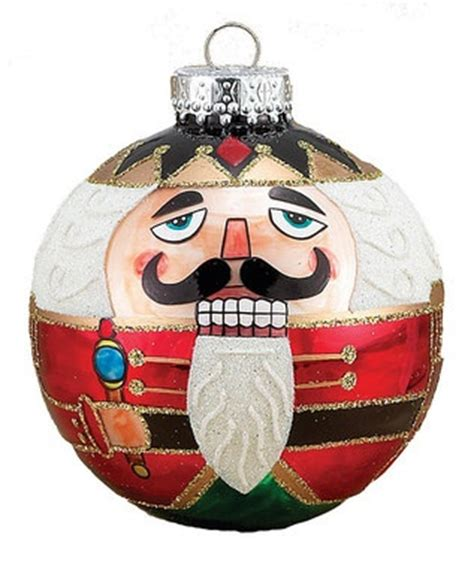 would be fun to paint nutcrackers on glass ornaments the most wonderful time of the year