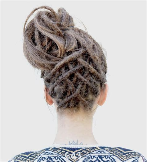 creative dreadlock styles  girls  women