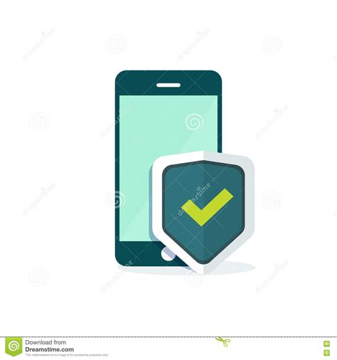 mobile phone security mobile phone security shield protection vector