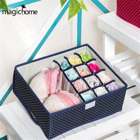 Box Bra Motif 2017 new pattern oxford fabric cloth bra storage box 13 grid socks organizer