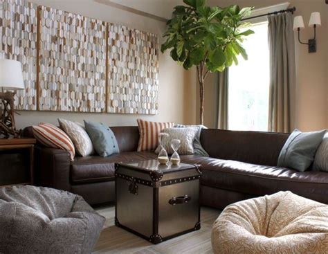 decorating around a leather sofa centsational