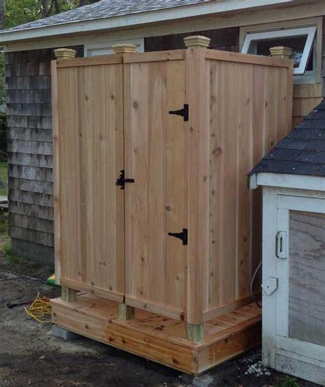 diy outdoor bathroom diy outdoor shower ideas with simple design home interior exterior