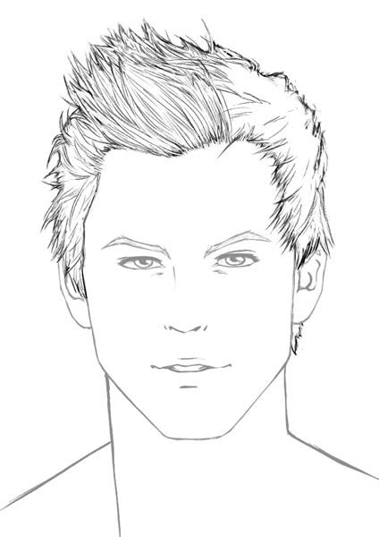 pencil drawing of hair styles of men how to draw hair male sharenoesis