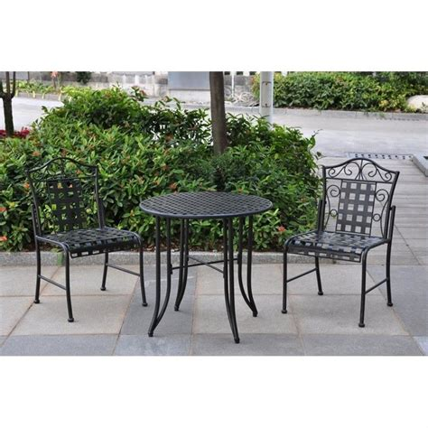 black wrought iron patio set international caravan mandalay wrought iron 3 patio