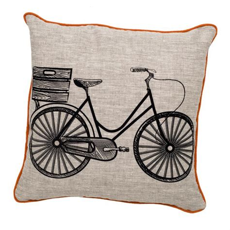 www roomservicestore retro bicycle pillow black