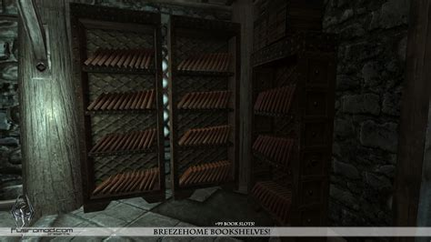 breezehome bookshelves at skyrim nexus mods and community