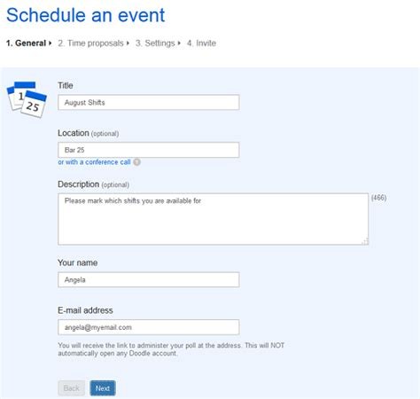 doodle schedule maker organise employees with doodle s simple schedule maker