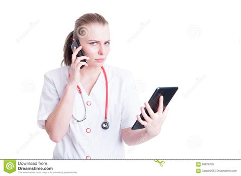 young girl use tablet phone work stock photo 670495366 shutterstock