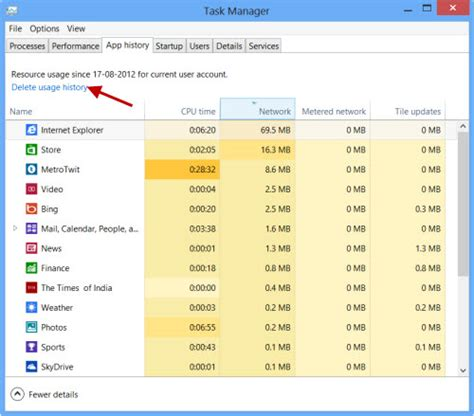 is there a way to delete app history on iphone how to delete usage history of windows 8 apps