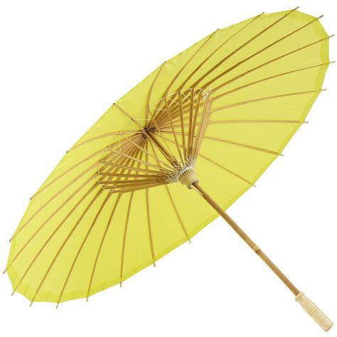 Chartreuse Chinese Paper and Bamboo Parasol   Brolliesgalore