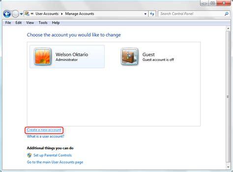 cara membuat akun instagram di windows 7 cara membuat akun administrator baru di windows 7