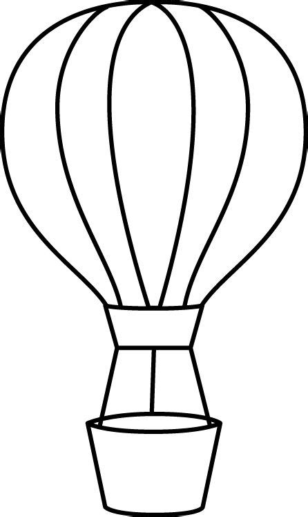 air balloon template printable black and white air balloon templates