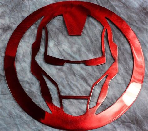Iron Works Home Decor by Iron Man Logo Metal Wall Art 13 99 Picclick