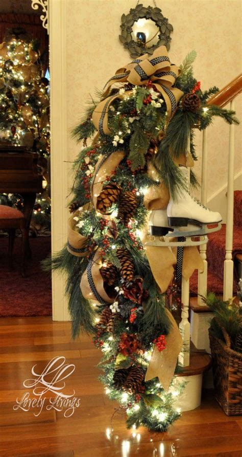christmas decorations banister 58 best images about christmas banister on pinterest