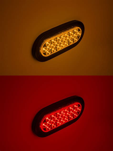 6 oval led lights oval led truck and trailer light 6 led brake turn tail