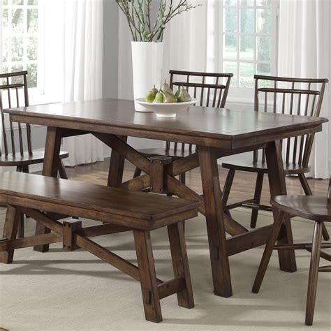 Trestle Kitchen Table Liberty Furniture Creations Ii Rectangular Trestle Table H L Stephens Kitchen Tables