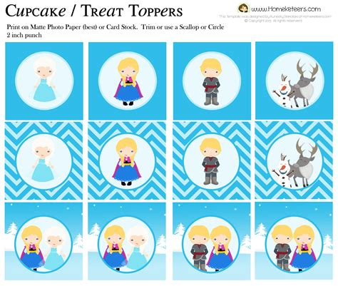 printable disney frozen cupcake toppers 6 best images of disney frozen free printable cupcake