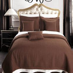 chocolate brown coverlet chocolate brown quilted bedspread from sears com