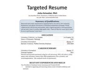 Targeted Resume Exles by Targeted Resume Process