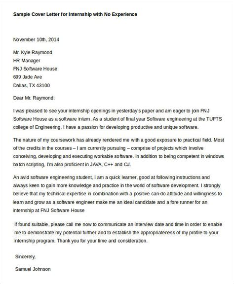 cover letter template for internship cover letters for internship 7 free word pdf documents