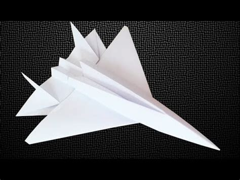 How To Make A Paper Jet Fighter - how to make an f15 eagle jet fighter paper plane