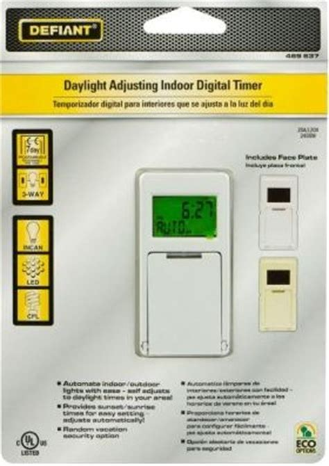home depot light timers defiant in dual outlet heavy duty timer 15075 the