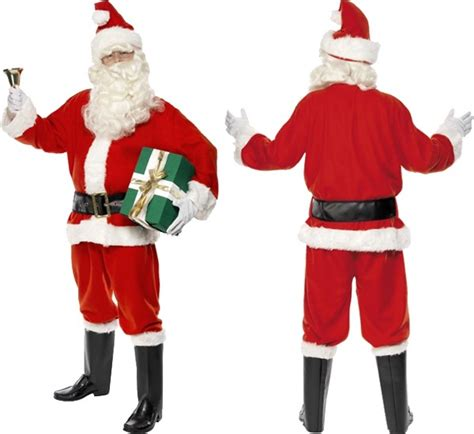 smiffy s deluxe santa suit father christmas fancy dress