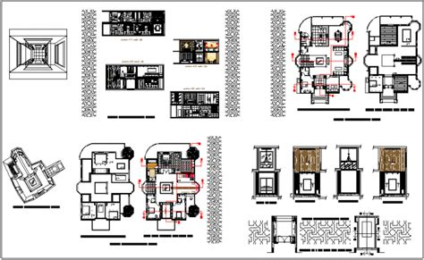 create layout view autocad interior design view of house with floor plan and