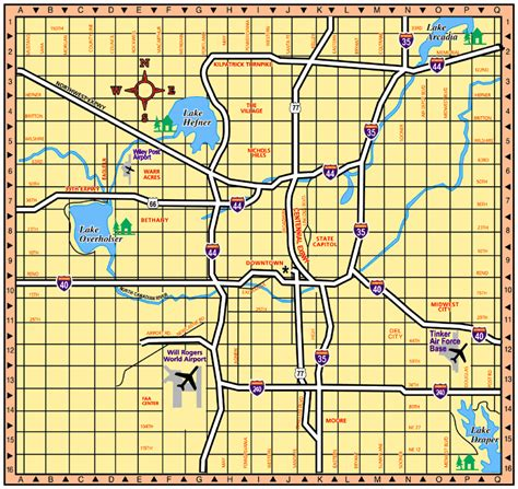 oklahoma city map oklahoma city oklahoma tourist map oklahoma city mappery