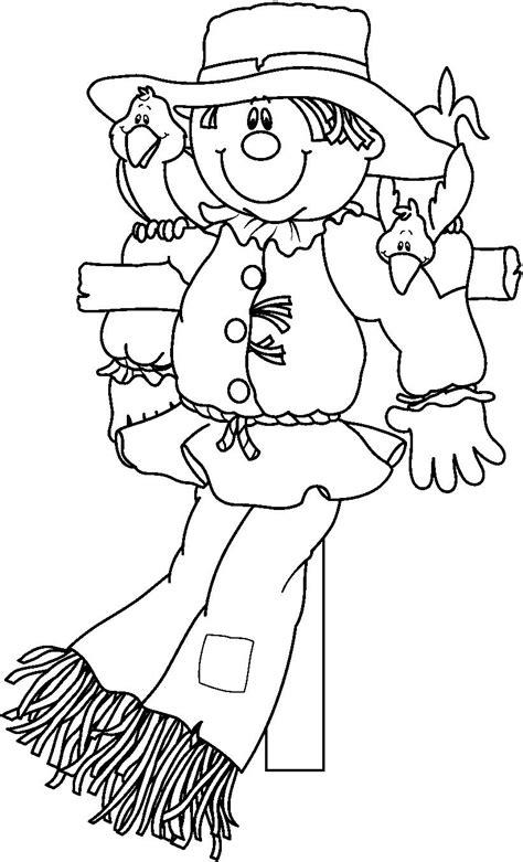 scarecrow coloring page scarecrow coloring pages autunno