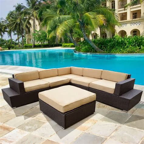 Outdoor Patio Furniture Stores Big Sale Discount 50 Outdoor Patio Rattan Sofa Wicker Sectional Furniture Sofa Set Outdoor