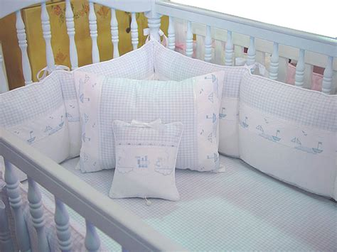 sailboat crib bedding embroidered sailboats crib bedding by blauen blauen crib